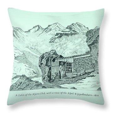 Swiss Alpine Cabin Throw Pillow