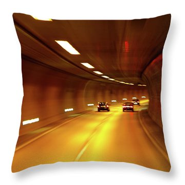 Throw Pillow featuring the photograph Swiss Alpine Tunnel by KG Thienemann