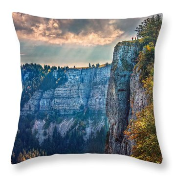 Swiss Grand Canyon Throw Pillow