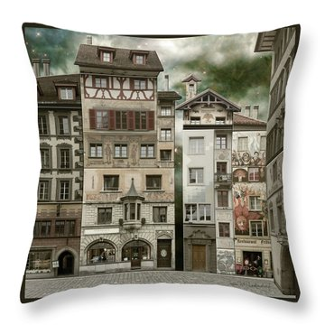 Swiss Reconstruction Throw Pillow