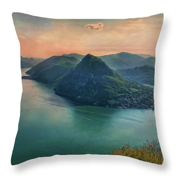 Throw Pillow featuring the photograph Swiss Rio by Hanny Heim