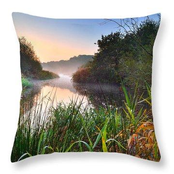 Swiss Valley Reservoir Throw Pillow