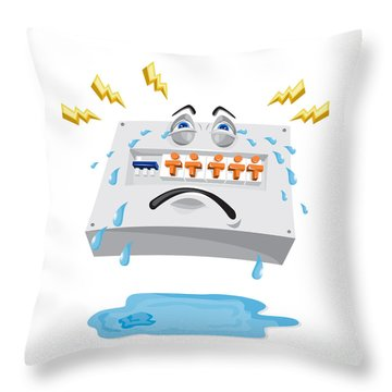 Switchboard Crying Tears Cartoon Throw Pillow