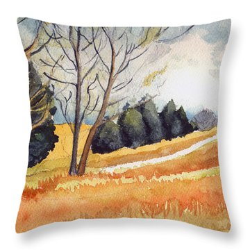 Switchboard Rd Throw Pillow by Katherine Miller