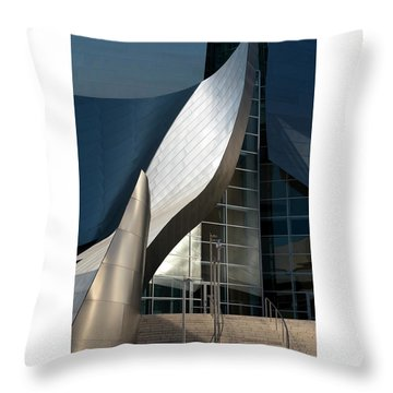 Throw Pillow featuring the photograph Swoops And Lines Of Disney Hall by Lorraine Devon Wilke