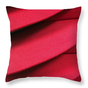 Swooshes And Shadows Throw Pillow