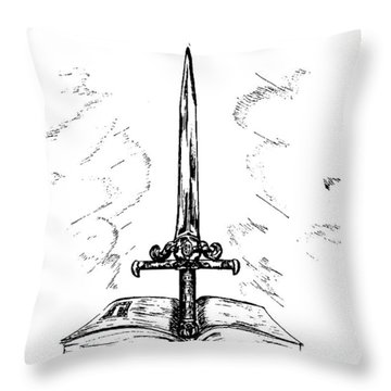 Sword Of The Spirit Throw Pillow by Maryn Crawford