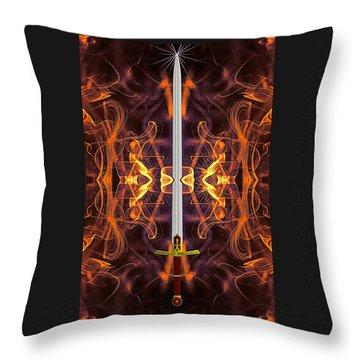 Sword Of Tomorrow Throw Pillow