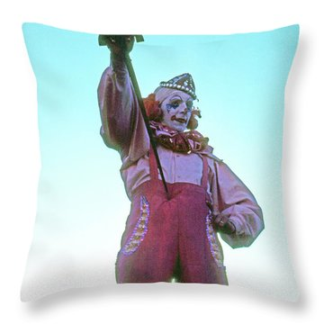 Sword Swallower Throw Pillow by Laurie Stewart