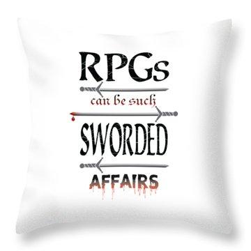 Sworded Affairs Light Throw Pillow