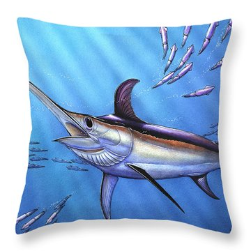 Swordfish In Freedom Throw Pillow
