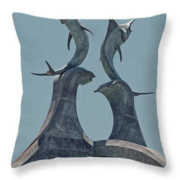 Swordfish Sculpture Throw Pillow by DigiArt Diaries by Vicky B Fuller