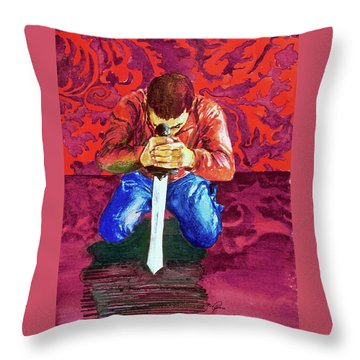Swords On The Playground Throw Pillow