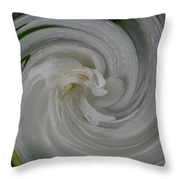Swrling Rose Throw Pillow