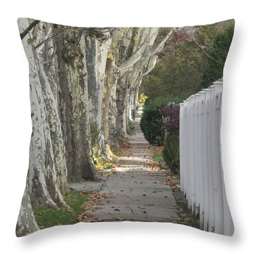 Sycamore Walk Throw Pillow