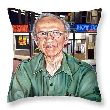 Syd Simon  Throw Pillow