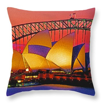 Sydney Architecture Throw Pillow by Dennis Cox WorldViews