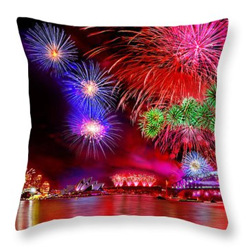 Sydney Celebrates Throw Pillow
