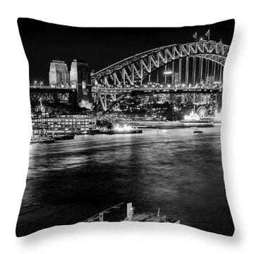 Throw Pillow featuring the photograph Sydney - Circular Quay by Chris Cousins