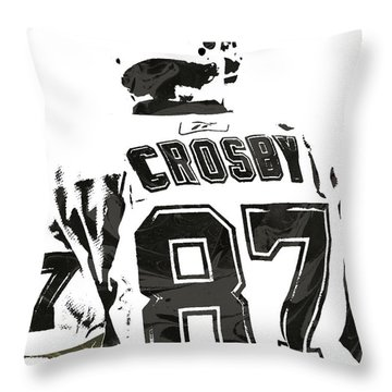 Sydney Crosby Pittsburgh Penguins Pixel Art 2 Throw Pillow