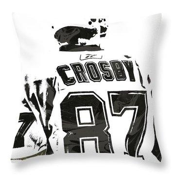 Sydney Crosby Pittsburgh Penguins Pixel Art 2 Throw Pillow