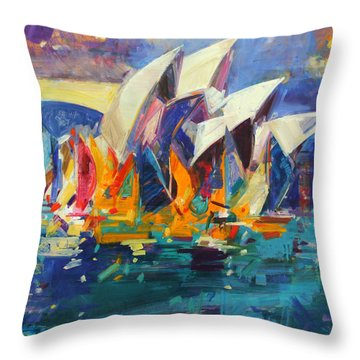 Sydney Flying Colours Throw Pillow
