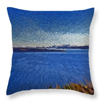 Sydney From North Head Throw Pillow