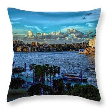 Sydney Harbor And Opera House Throw Pillow