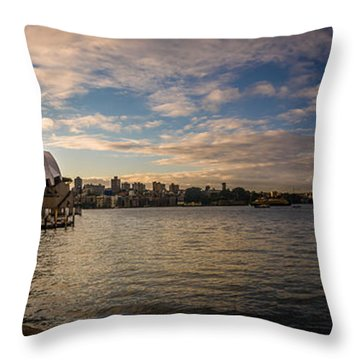 Throw Pillow featuring the photograph Sydney Harbor by Andrew Matwijec