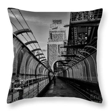 Sydney Harbor Bridge Bw Throw Pillow