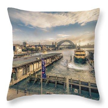 Sydney Harbor I Throw Pillow