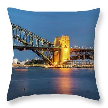 Sydney Harbour At Dusk Throw Pillow