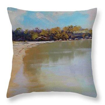 Sydney Harbour Beach Throw Pillow