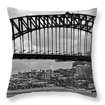 Sydney Harbour Bridge No. 15-1 Throw Pillow by Sandy Taylor