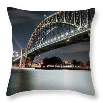 Sydney Harbour Lights Throw Pillow