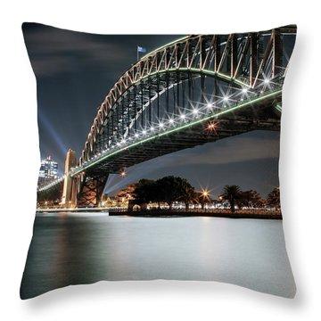 Sydney Harbour Lights Throw Pillow