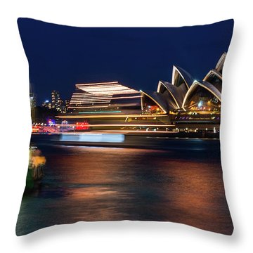 Sydney Night Life Throw Pillow