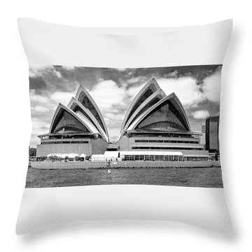 Sydney Opera House No. 1-1 Throw Pillow by Sandy Taylor