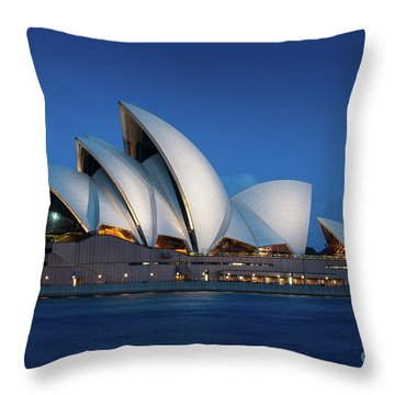 Sydney Opera House After Dark Throw Pillow