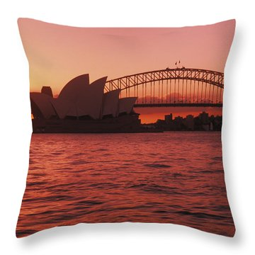 Sydney Opera House Throw Pillow by Bill Bachmann - Printscapes