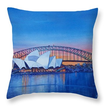 Harbor Bridge Throw Pillows