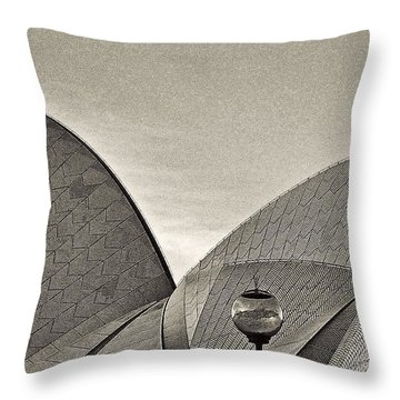 Sydney Opera House Roof Detail Throw Pillow