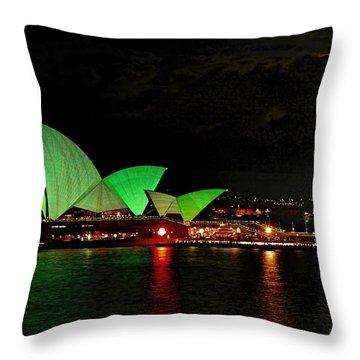 Sydney Opera House Vivid Festival Australia Throw Pillow
