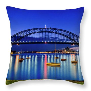 Sydney Reflections Throw Pillow