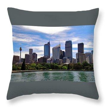 Sydney Skyline No. 1 Throw Pillow