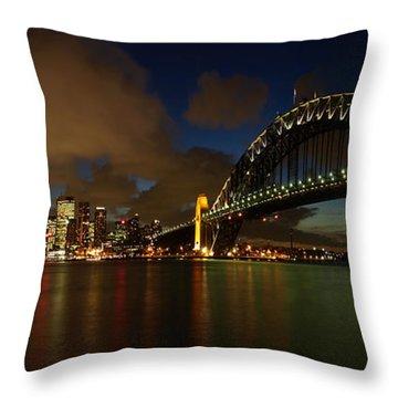 Sydney Skyline Throw Pillow by Melanie Viola