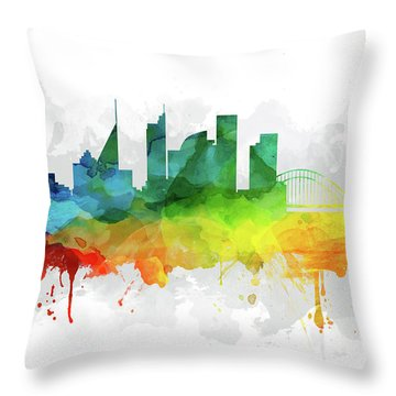 Sydney Skyline Mmr-ausy05 Throw Pillow by Aged Pixel