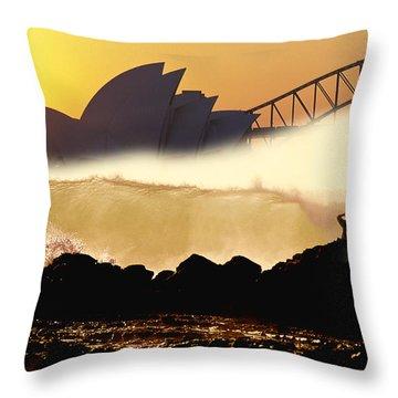 Sydney Surf Throw Pillow