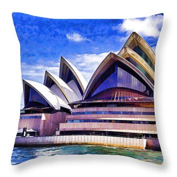 Sydney Symbol Throw Pillow by Dennis Cox WorldViews