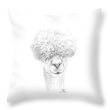 Throw Pillow featuring the drawing Sylar by K Llamas